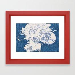 strange things Framed Art Print