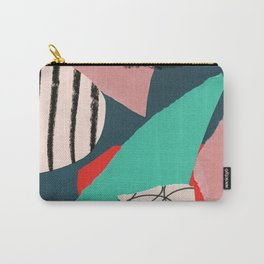 abstract paper collage Carry-All Pouch
