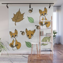 Autumn Fox Wall Mural