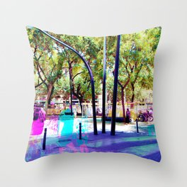 Set your mind at ease as you muster all a fluster. Throw Pillow