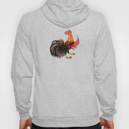 Rooster Crowing Hoody
