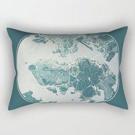 Hong Kong Map Planet Rectangular Pillow