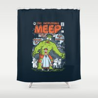 muppet Shower Curtains featuring Incredible Meep by Hoborobo