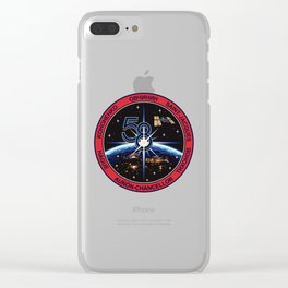 Expedition 58 Orignal Crew Patch Clear iPhone Case