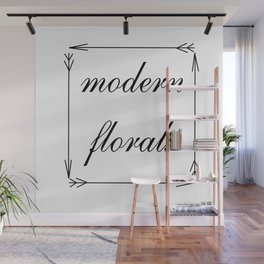 Modern Florals and Arrows Wall Mural