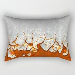 Rust and Grey Rectangular Pillow