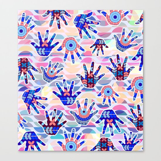 Colorful hands II Canvas Print