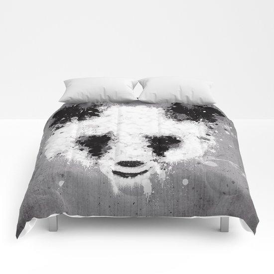panda paint Comforters