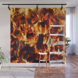flame heat flammable burn bonfire Wall Mural