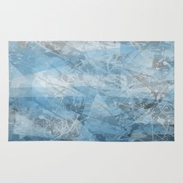 Abstract blue pattern Rug
