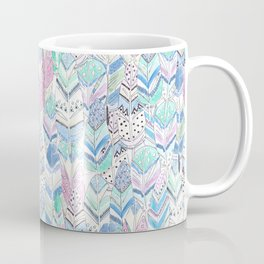 Watercolor . The feather of a bird . Coffee Mug