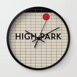 HIGH PARK   Subway Station Wall Clock