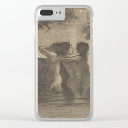 Camille Pissarro - Four Bathers, 1895 Clear iPhone Case