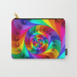 Psychedelic Rainbow Spiral  Carry-All Pouch