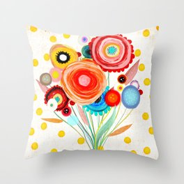 Ruth Fitta-Schulz  - Watercolour Floral Wedding Wedding Throw Pillow