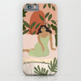 Life With Plants iPhone Case