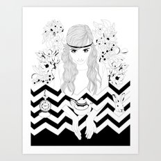 Alice in Wonderland Series - Eat me Art Print