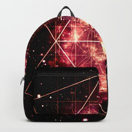 Burgundy Magenta Galaxy Sacred Geometry : Golden Rectangles Backpack