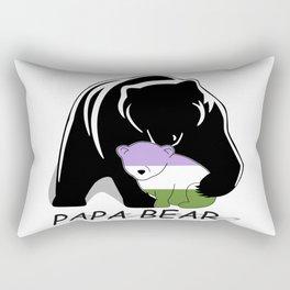 Papa Bear Genderqueer Rectangular Pillow