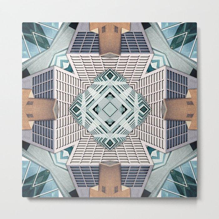 City Cube Collage Metal Print