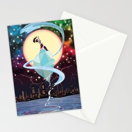 Full Moon Over Republic City Stationery Cards