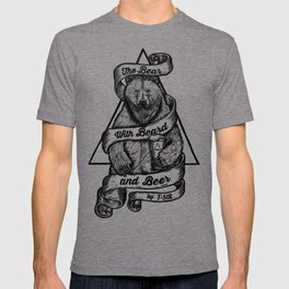 The Bear with Beard and Beer T-shirt