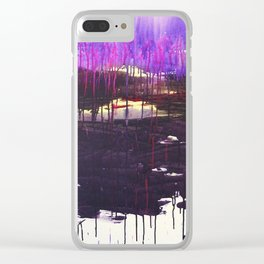 Mangled Thoughts and Dreams Clear iPhone Case