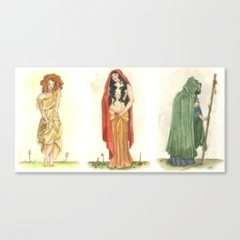 The Maiden, Mother, and Crone   Canvas Print