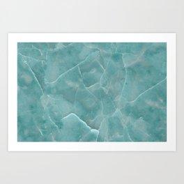 Ice Green Marble Art Print