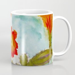 Red Epiphyllum Orchid Cactus still life painting by Emil Nolde Coffee Mug