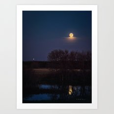 Supermoon Reflected Art Print