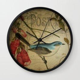 EPHEMERA Birds Pair 1b Wall Clock