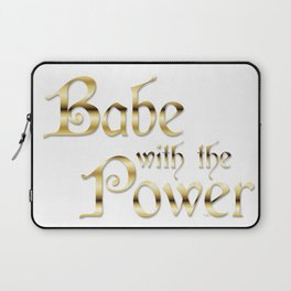 Labyrinth Babe With The Power (white bg) Laptop Sleeve