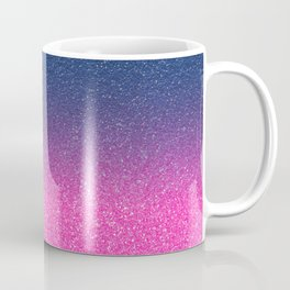 Trendy Metallic Royal Blue Hot Pink Glitter Gradient Coffee Mug