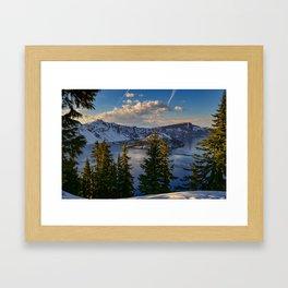 Crater Lake - Spring Framed Art Print