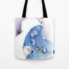 Lady Winter / Dame Hiver Tote Bag