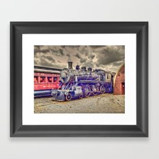 old steam train Framed Art Print