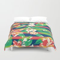 tropical Duvet Covers featuring Tropical by Steven Toang