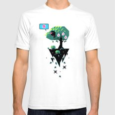 Greedy Grackle SMALL Mens Fitted Tee White
