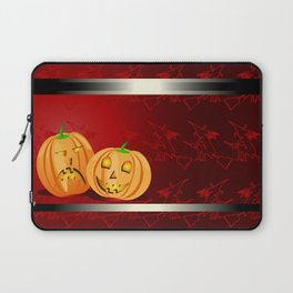 Pumpkins and spooky witches Laptop Sleeve