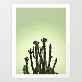 Wild Cactus Green Art Print