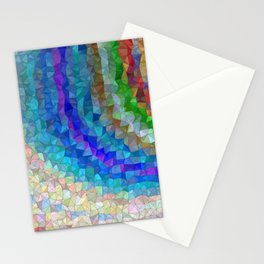 Colorful Rainbow Mosaic Pattern Stationery Cards