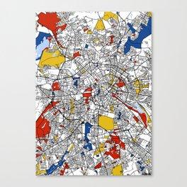 Berlin mondrian Canvas Print