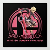 super smash bros Canvas Prints featuring Shulk - Super Smash Bros. by Donkey Inferno