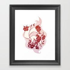 Kitsune Burn Burn Framed Art Print