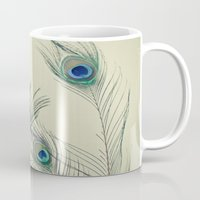 cassia beck Mugs featuring All Eyes Are on You by Cassia Beck