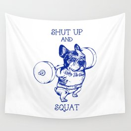 Frenchie Squat Wall Tapestry