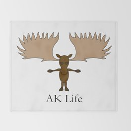 AK Life Moose Throw Blanket