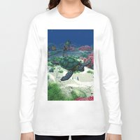 sea turtle Long Sleeve T-shirts featuring Sea Turtle by Simone Gatterwe