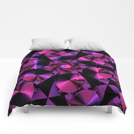 Abstract 344 a berry and black kaleidoscope Comforters